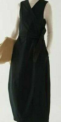 AU105.55 • Buy COS Cotton-Mix Belted Wrap Dress Size Small