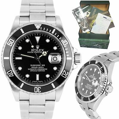 $ CDN12124.21 • Buy 2004 Rolex Submariner Date 16610 T Stainless NO-HOLES CASE Pre-Ceramic Watch B+P