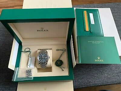 AU12600 • Buy Rolex Datejust 36mm 2019 Blue Dial, Fluted Bezel, Jubilee Bracelet FULL SET!!!