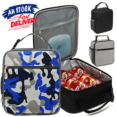 AU16.45 • Buy Cool Bag Adult Kids Lunch Bag School Lunch Box Insulated Picnic Storage Work
