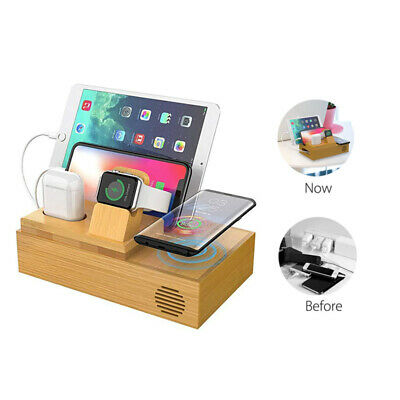 AU68.99 • Buy Multi-Device Wireless Charging 5 In1 Charging Dock For Iwatch/iPhone/iPad/AirPod