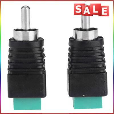 £3.62 • Buy #QZO 2pcs Speaker Wire Cable To Audio Male RCA Connectors Adapters Jack Plug