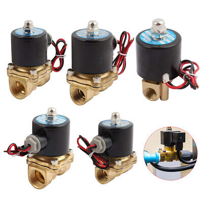 AU25.65 • Buy 2 Way SOLENOID VALVE AIR WATER GAS OIL BRASS NORMALLY CLOSED 12V 24V 240V AC/DC