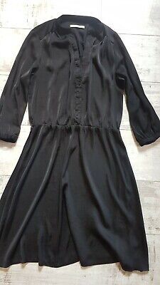 AU3.56 • Buy Camaieu Size 12-14-16 Shift Dress Belted  Black Sparkly Party/ Casual Light