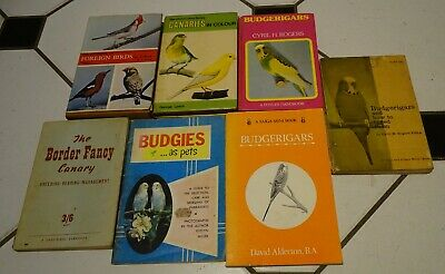 £5 • Buy Job Lot Of 7 Vintage Budgerigar & Canary Books Rogers Lynch Cage Birds