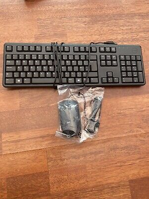 Original Dell KEYBOARD AND MOUSE SET USB WIRED QWERTY UK LAYOUT PC COMPUTER  • 20£