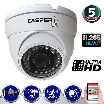 £42.80 • Buy 5MP POE IP HD Wired Dome Camera 1920P Outdoor Waterproof IR Speed Dome Security