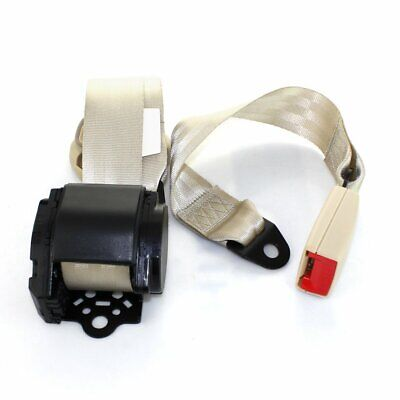 AU25.54 • Buy 1X Fits Chrysler 3 Point Harness Safety Seatbelt Retractable Beige Car Universal