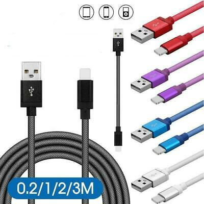 AU5.78 • Buy Braided USB Charging Phone Cable Data Cord Charger For IPhone 12 11 7 X 8 Nonoem
