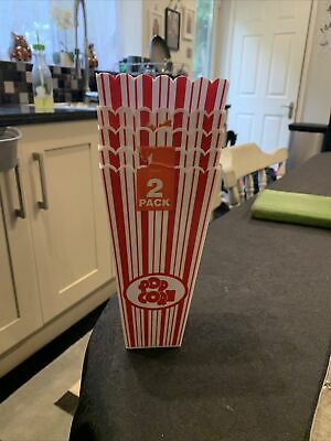 4x Reusable Novelty Plastic Popcorn Boxes Tub Carton Container Movie Party Treat • 3£