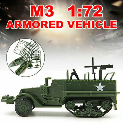$4.99 • Buy 1:72 M3 Half Track Armored Vehicle Assembly Military Model Toy Car Kids Gift