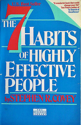 AU15.90 • Buy THE 7 HABITS OF HIGHLY EFFECTIVE PEOPLE By Stephen Covey - Book - Seven
