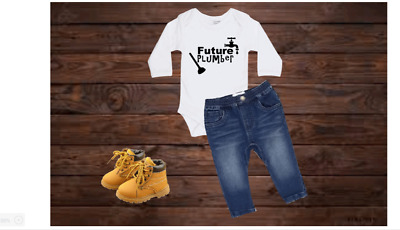 AU22.95 • Buy Future Plumber Bodysuit Cute Baby Daddy Baby Shower Gift Fathers Day Pregnancy