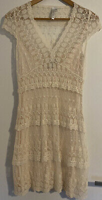 AU9.50 • Buy Forever New Lace Dress - Size 10 Ivory