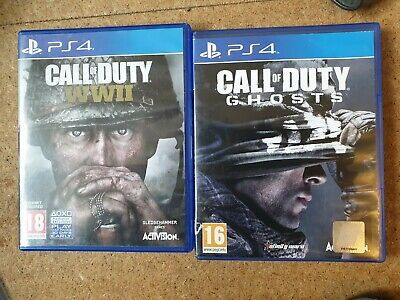 £8.50 • Buy Call Of Duty WWII (COD WW2) And Cod Ghosts Bundle Sony Playstation 4 PS4 Game