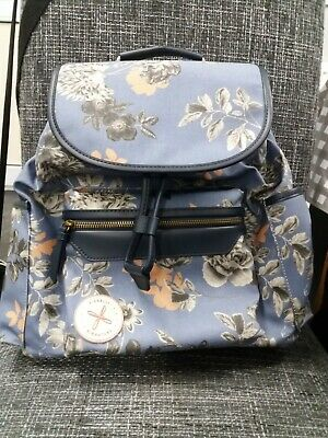 £12.99 • Buy Fiorelli Signiture Blue Floral Print Backpack Bag In Oilcloth   (New NO TAGS )