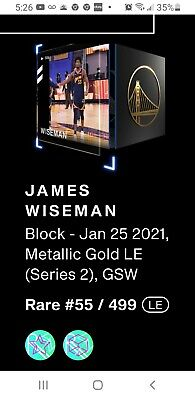 $890 • Buy James Wiseman NBA Top Shot Metallic Gold (limited Edition)NFT Moment Low55/499