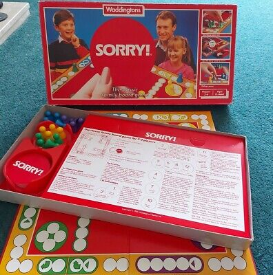 £13.50 • Buy Sorry! Board Game 1985 Waddingtons 100% Complete