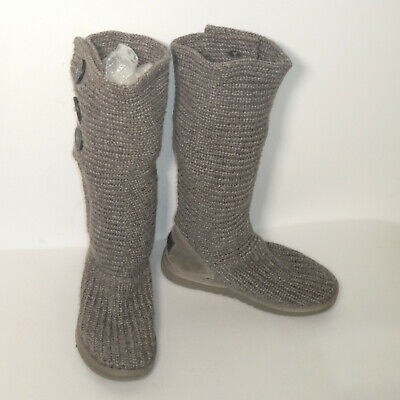 £35.99 • Buy Womens Tall Grey Knitted UGG Australia Boots With Buttons Size 4.5