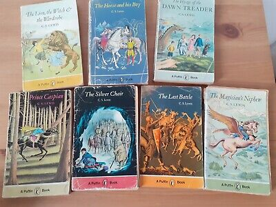 £9.99 • Buy The Chronicles Of Narnia - C S Lewis Puffin Books 1970s Complete Set Of 7 Books
