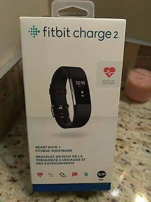 $ CDN114.99 • Buy Fitbit Charge 2 Heart Rate & Fitness Wristband, Black, Small - Model: FB407SBKS