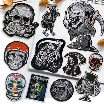 £1.80 • Buy Skull Devil Demon Embroidered Sew On Iron On Patch Badge Fabric Craft Transfer