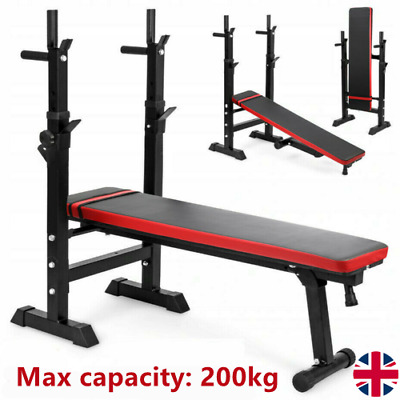 £67.99 • Buy Folding Flat Weight Lifting Bench Body Workout Exercise Benches Home Gym Fitness