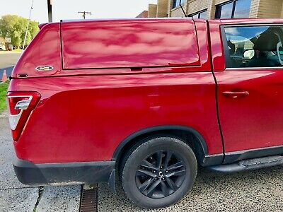 AU4000 • Buy FORCE PRO PLUS Canopy For SsangYong Musso XLV (Long Tub) 2018+ Indian Red #RAJ