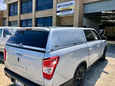 AU4000 • Buy FORCE PRO PLUS Canopy For SsangYong Musso XLV (Long Tub) 2018+ Maroon Brown #OAW