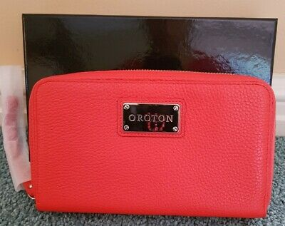 AU80 • Buy Nib,stunning,oroton,mystical Zip Around,ladies Leather Wallet Bright Orange $295