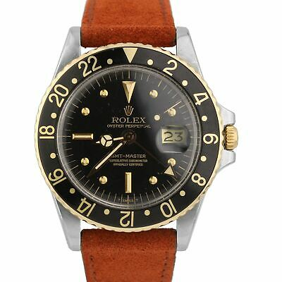 $ CDN11361.92 • Buy Vintage 1978 Rolex GMT-Master 1675 Black NIPPLE 14K Yellow Gold Stainless Watch