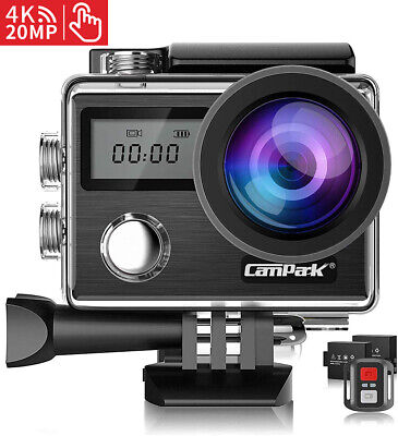 $ CDN90.68 • Buy Campark 4K 20MP Waterproof Sports Action Camera DVR EIS Video Recorder As Go Pro