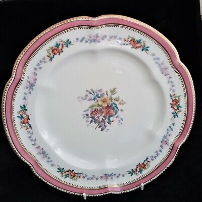 Antique Minton Cabinet Plate 9.5  C.1874 Hand Painted. Gilded. Great Condition • 19£