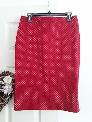 £2 • Buy Ladies Red Spot Skirt By New Look,  Size 14