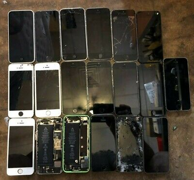 $ CDN141.33 • Buy Lot Of 19 Iphone 5 5c 5s (Unknown) Smartphone Fast Ship Parts Repair
