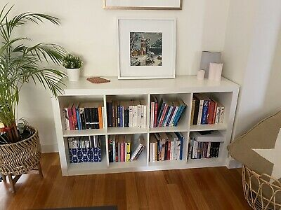 AU50 • Buy IKEA EXPEDIT Storage Book Shelf Unit White - VGC 8 Cubes