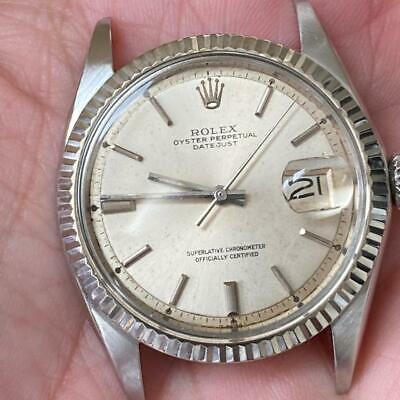 $ CDN2085.87 • Buy Rolex Datejust 1601 Vintage Watch 100% Genuine Fluted 1970 White Gold Bezel 36mm