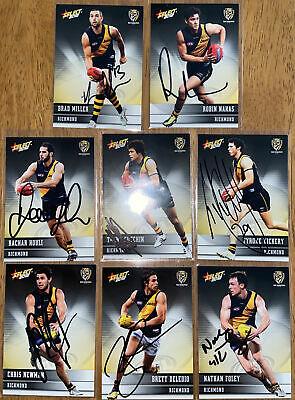 AU32 • Buy AFL Select 2012 Champions Richmond Tigers Signed Cards X8