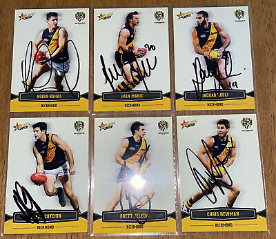 AU24 • Buy AFL Select 2013 Champions Richmond Tigers Signed Cards X6