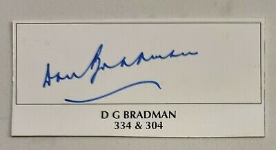 AU150 • Buy Don Bradman Cricket Signed In Person  Neat 300 Card Ashes Australia Sir Donald