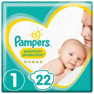 £6.19 • Buy Pampers Nappies Newborn Size 1 Premium Protection Pack Of 22