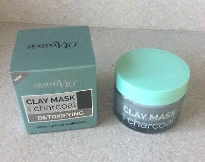 Derma V10 Clay Mask Charcoal Detoxifying - Brand New And Boxed • 2.65£