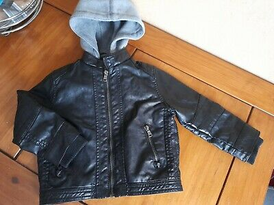 £10.99 • Buy H & M Boys Age 1 1/2 -2 Years Faux Leather Hooded Bomber/biker Jacket.
