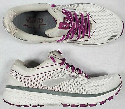 $ CDN72.54 • Buy Brooks Women's Size 8 Ghost 12 Running Shoes White Gray Hollyhock EUC Excellent!