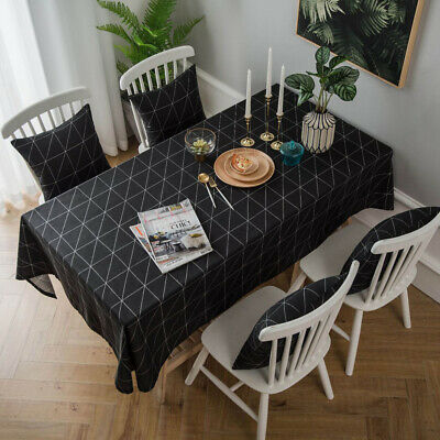 AU21.66 • Buy Cotton Linen Tablecloth Rectangle Kitchen Dining Table Cloth Cover Home Decor