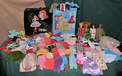 $ CDN47.16 • Buy Large Vintage Barbie Lot Dolls, Clothes, Accessories & Cases