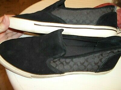 $29.50 • Buy Coach Kenneth Men's Black Driving Loafers Sneakers Sz 10D Shoes Suede Jacquard