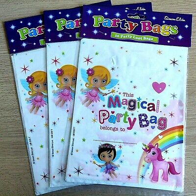 £2.99 • Buy NEW - 30 PARTY LOOT BAGS - FAIRY & UNICORN Girls Boys Birthday Party Bag 30 BAGS