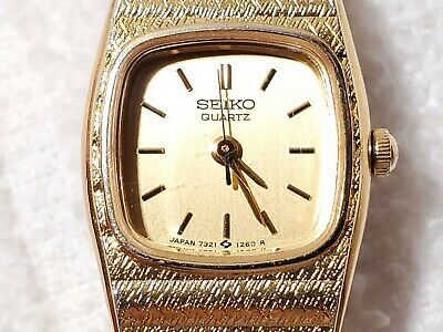 $ CDN12.09 • Buy Vintage Seiko Gold Tone Quartz Analog Watch Five Jewels Dress Chain Women's