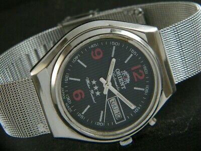 $ CDN34.45 • Buy VINTAGE ORIENT AUTOMATIC JAPAN MEN'S DAY/DATE WATCH 432d-a215724-1